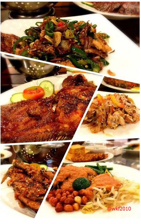 Serba pedas khas Resto Ayam Cacah. (foto: @MySetiawan)